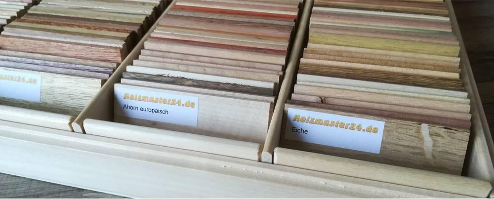 Holzmuster Komplettset mit Aufbewahrungsbox